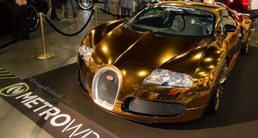 golden bugatti