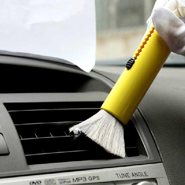 ۲PCS-LOT-Car-Dust-Brush-For-Air-conditioning-interior-Dashboard-Rims-Wheel-Engine-Corner-Auto-Cleaning
