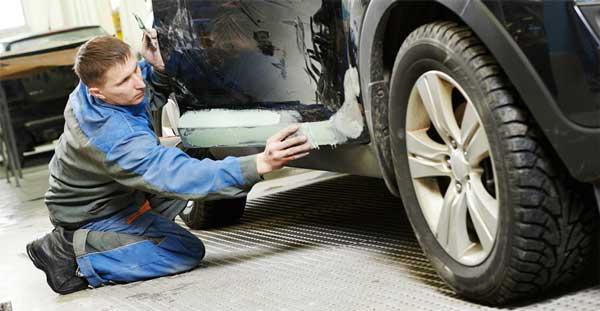 لیسهکشی بدنه اتومبیل در زمان خشگیری